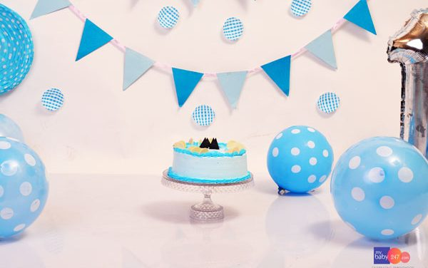 Blue Cake Smash-Birthday Photography